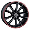 Image of TORO 9012 BLACK RED STRIPE wheel