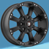 Image of BALLISTIC 854 MORAX FLAT BLACK wheel