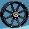 Image of BALLISTIC 956 RAZORBACK GLOSS BLACK MILLED wheel