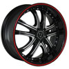 Image of TORO 9036 BLACK RED STRIPE wheel