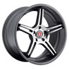Image of BAVARIA BC5S CONCAVE CHARCOAL MACHINED wheel
