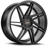 Image of BLAQUE DIAMOND BD ONE SEMI MATTE BLACK wheel
