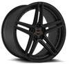 Image of BLAQUE DIAMOND BD SIX SEMI MATTE BLACK wheel