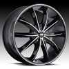 Image of AVENUE A608 MACHINED BLACK wheel