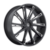 Image of KRAZE SWAGG BLACK MILLED SUV wheel