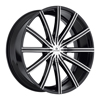 Image of KRAZE PASSION BLACK MACHINED wheel