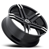 Image of STRADA DOMANI GLOSS BLACK MACHINE TIP wheel