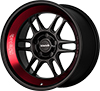 Image of KLUTCH ML1 MATTE BLACK RED wheel