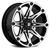 Image of BALLISTIC 814 JESTER FLAT BLACK MACHINED wheel