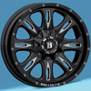Image of BALLISTIC 953 SCYTHE GLOSS BLACK MILLED wheel