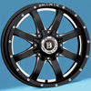 Image of BALLISTIC 955 ANVIL GLOSS BLACK MILLED wheel