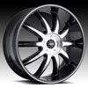 Image of MKW M112B MACHINE BLACK wheel