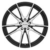 Image of PETROL P0A GLOSS BLACK MACHINE CUT FACE wheel