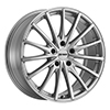 Image of PETROL P3A SILVER MACHINE CUT FACE wheel