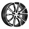 Image of PETROL P5A GLOSS BLACK MACHINE CUT FACE wheel