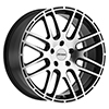 Image of PETROL P6A GLOSS BLACK MACHINE CUT FACE wheel