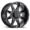 Image of VOXX TRUCK GFX TM12 GLOSS BLACK MILLED wheel