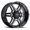 Image of VOXX TRUCK GFX TR6 GLOSS BLACK MACHINED wheel