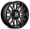 Image of BALLISTIC 818 ATOMIC GLOSS BLACK MILLED wheel
