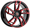 Image of REVOLUTION RACING R22 BLACK RED wheel