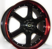 Image of G LINE G780 BLPR BLACK RED LIP wheel