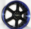 Image of G LINE G780 BLPU BLACK BLUE LIP wheel