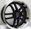 Image of G LINE G817 BLP BLACK POLSHED LIP wheel