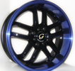 Image of G LINE G817 BLPU BLACK BLUE LIP wheel