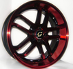 Image of G LINE G817 BPR RED BLACK TRIM wheel