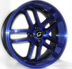 Image of G LINE G817 BPU BLUE BLACK TRIM wheel