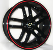 Image of G LINE G817 RL Black Red Line wheel