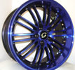 Image of G LINE G820 BPU BLUE BLACK TRIM wheel