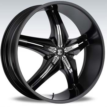 2 CRAVE No15 BLACK INSERT 2 SUV - Black/Chrome Inserts Finish